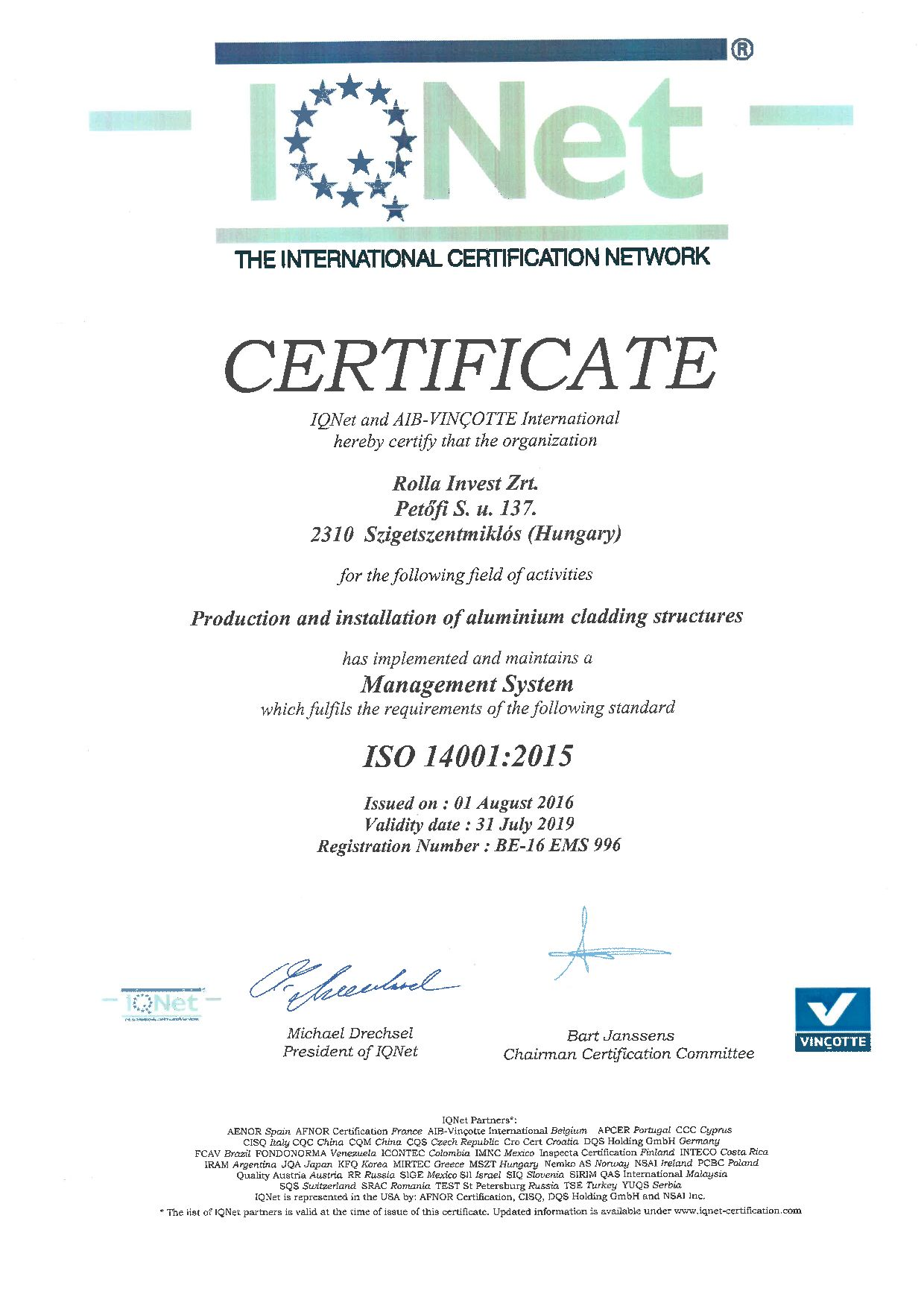 IQ Net - ISO 14001:2015 (English) (0. oldal)